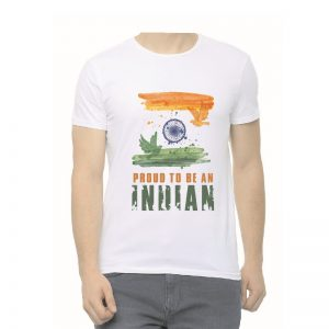 Proud to be Indian Unisex Round Neck White T-Shirt