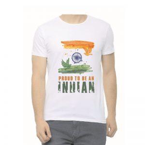 Proud to be Indian Unisex Round Neck White T-Shirt