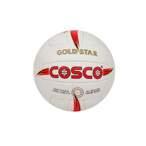 Cosco PU Leather Gold Star Volleyball White/Red Standard Size