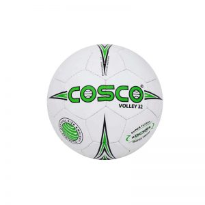 Cosco PU Synthetic Volley 32 Volleyball White/Green Standard Size