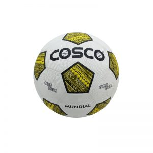 Cosco Moulded Football Mundial Black/Yellow Size 5