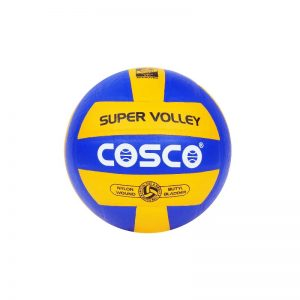 Cosco Leather Super Volleyball Yellow/Sky Official Size