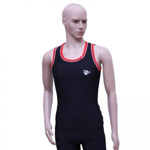 Men's Gym Vest with Shorts Black/Red
