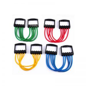 Chest Expander with 5 Tube Assorted Color