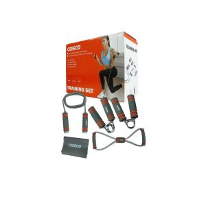 Fitness Training Set with Skipping Rope + Hand Grip