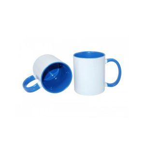 Inner And Handle Sky Blue Colour Mugs Full Customization