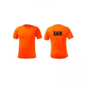 Sain Customize Round Neck T-Shirts Orange Color