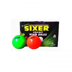 Sixer Cricket Wind Ball Set of 6 Pcs